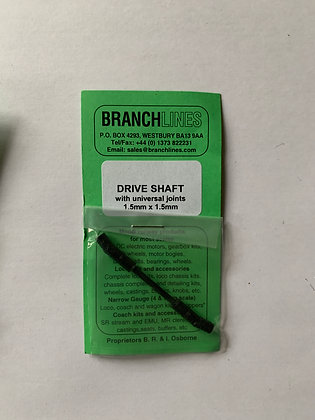 Branchlines : Drive Shaft with Universal Joint 1.5 mm x 1.5 mm