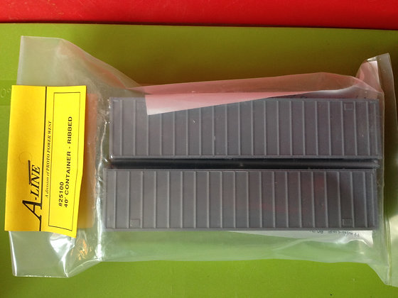 40ft Ribbed Grey Container - Twin Pack - A-Line