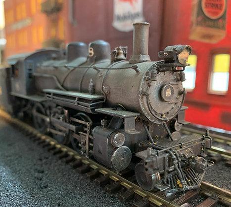 D&RGW / Gun Creek  Class T29 Ten Wheeler #8 -  Brass    HO