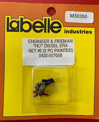 Diesel Era - Engineer &  Fireman Set 2 - Labelle HO Scale Figures
