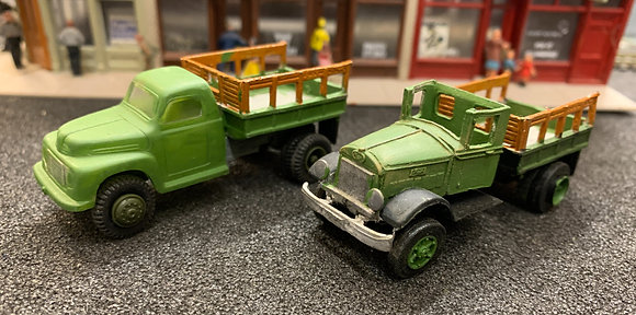 Two Pick Up Trucks HO scale