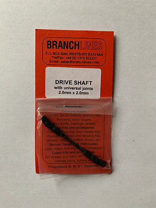 Branchlines : Drive Shaft with Universal Joint 2.0  mm x 2.0 mm