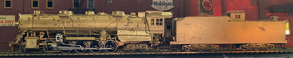 DM & IR 2-10-4   E4 ex B & LE -   Brass HO