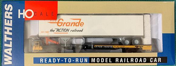 Front Runner + 45' Box Trailer - Rio Grande - Walthers 932-39818 HO NIB