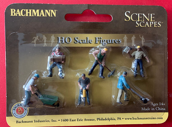 Scale Figures - Construction Workers - HO