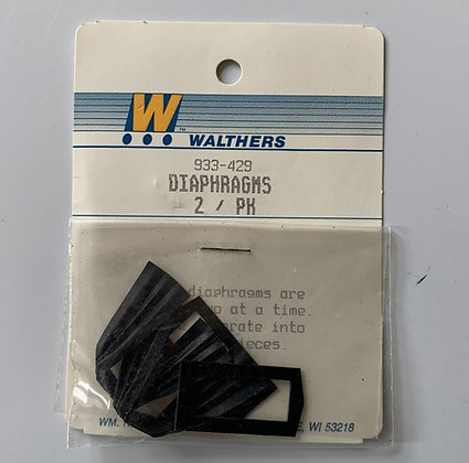 Diaphrams - Heavyweight Passenger Car -Walthers - HO Parts