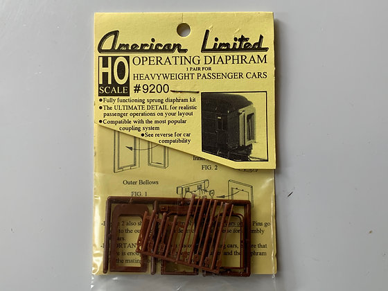Operating Diaphrams - Heavyweight Passenger Car - HO Parts