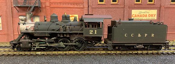Chicago Central & Pacific Railway - 4-6-0 Baldwin   Brass - Fujiyama HO