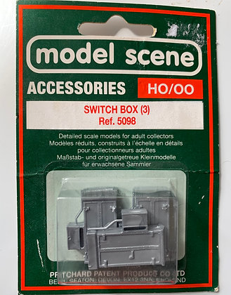 Switch Boxes x 3 - Model Scene - HO /OO