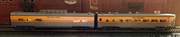 7 x D&RGW Smoothside Brass Passenger Cars - HO