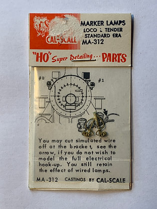 Marker Lamps - pair - Cal Scale - HO Parts