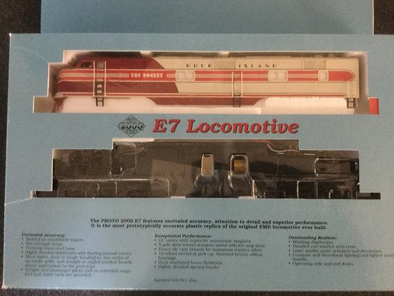 """ROCK ISLAND """"The Rocket"""" EMD E7 A&B set  Proto 2000 DCC plug HO scale"""