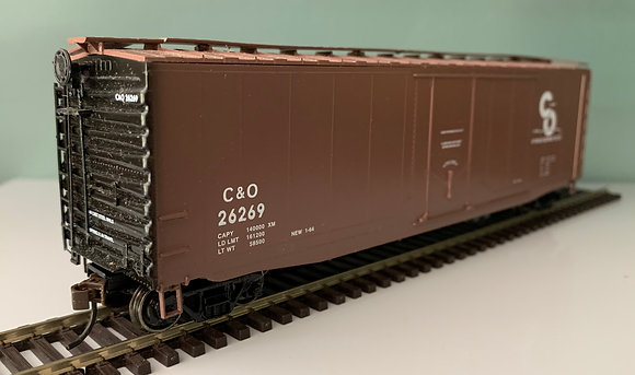 CHESAPEAKE & OHIO - 50ft AAR Metal Box Car - HO