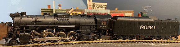 ILLINOIS CENTRAL - 2-8-4 - Berkshire - Brass HO scale