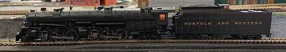 NORFOLK & WESTERN 2-6-6-4  Class A -  HO