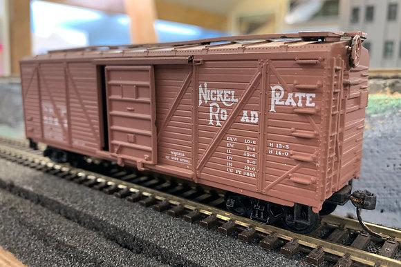 Nickel Plate Road - 40ft Wooden Box  Car  -  HO