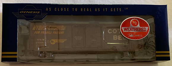 Cotton Belt 50ft PC&F Welded Double Plug Door Box Car - Weathered  H