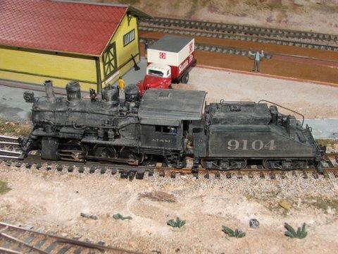 AT&SF - Class 2100  -  0-6-0  - #9104 -  Hallmark Brass