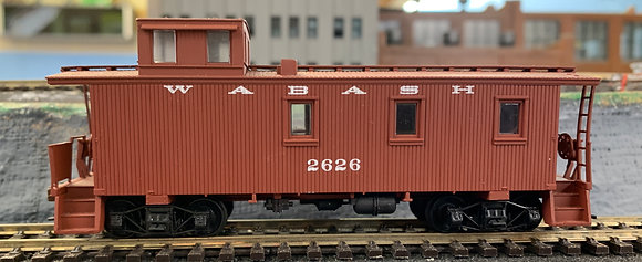 WABASH -  3 Window Off-Set Caboose - Walthers  HO