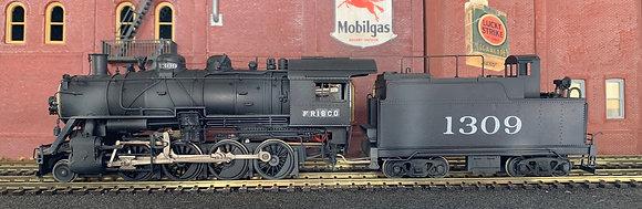 FRISCO - 2-8-0  Class 1306 c/w Dog House Tender  Brass  HO