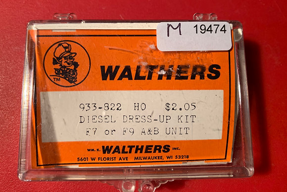 """Walthers """"Dress Up Kit"""" for F & E Unit 933-822  - HO Parts"""