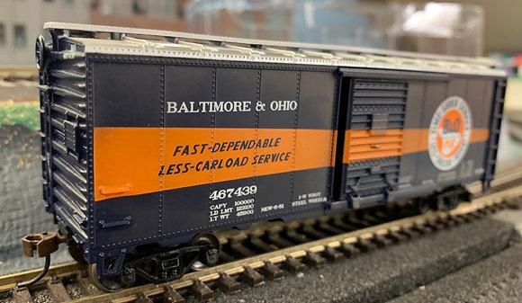 "Baltimore & Ohio 40'  Metal  ""Time Saver"" Box Car - HO"