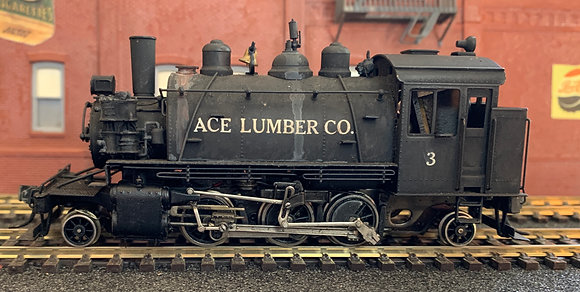 Logging - ACE LUMBER CO Baldwin Saddle Tank 2-6-2T - Brass HO.