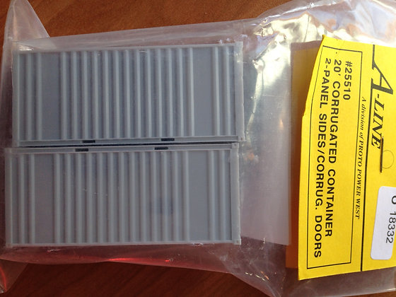 20ft Corrugated Container  - Twin Pack - A-Line