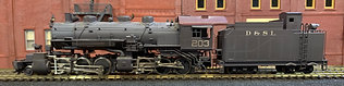 Denver & Salt Lake  - (D&RGW)  2-6-6-0   Mallet    Brass HO