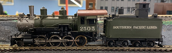 Southern Pacific -  C15  2-8-0  Dog House Tender Brass  HO