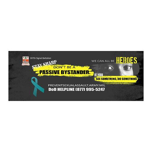 LM43851 Sharp Passive Bystander Banner  (yellow) 4' x 10' Vinyl Banner Sin