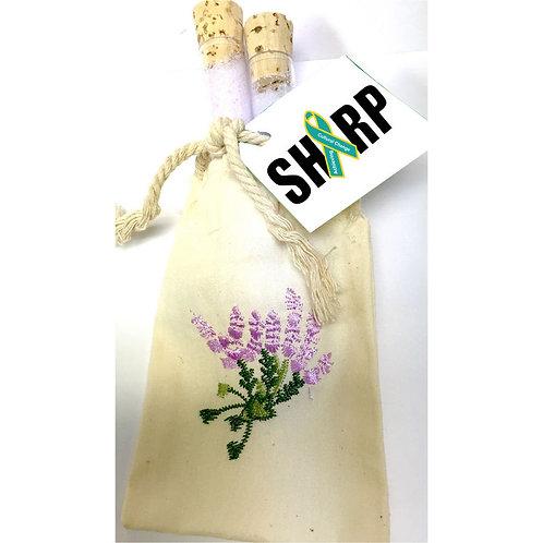 LM32488 Lavender Vanilla Bath Salts in Cotton Jute Bag