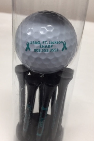 LM4508   Golf Balls and Tees in a Tube