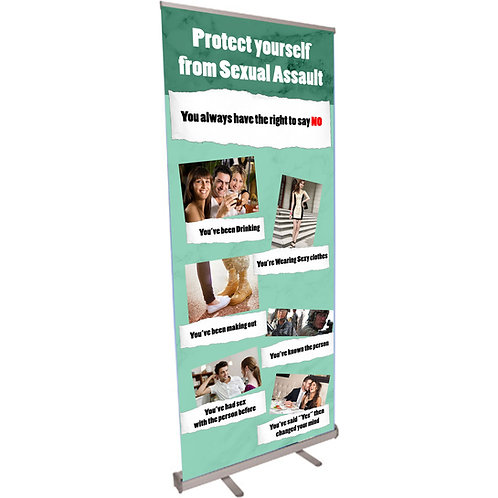 Protect Yourself form Sexual Assault Retractable Banner