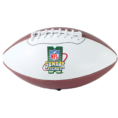 """LM1233 13"""" Regulation Football with Autograph White Panel"""