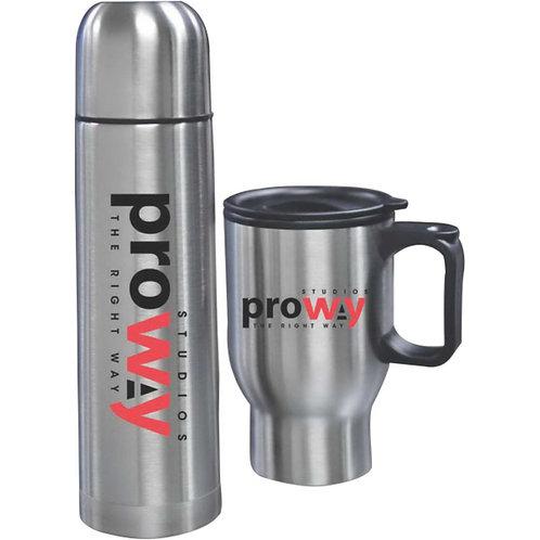 LM2618G Bullet Flask and Thermal Mug Set