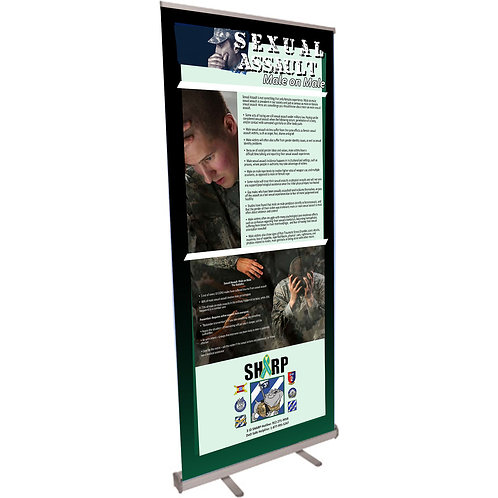 Male on Male Retractable Banner