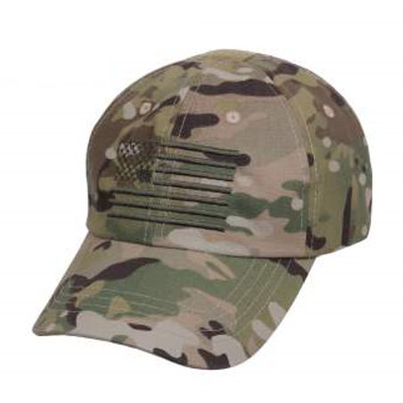 LM10529 Tactical Operator Cap With Embroidered US Flag