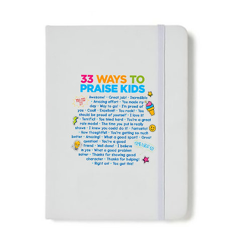"LM15994 33 Ways To Praise Kids -Soft Touch  5""x 7""Journal"