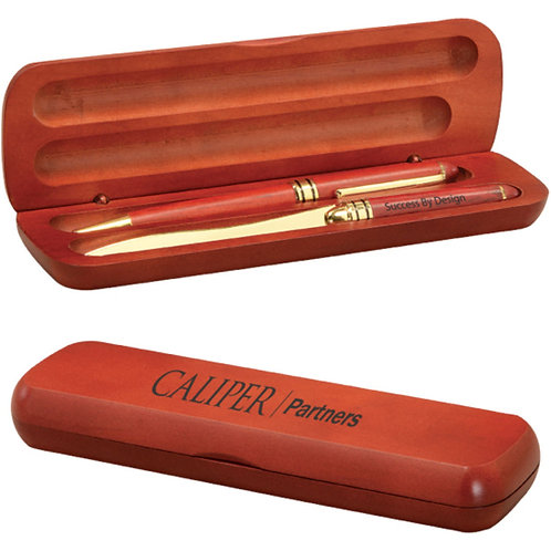 LM7018 Rosewood Pen and Letter Opener with Case