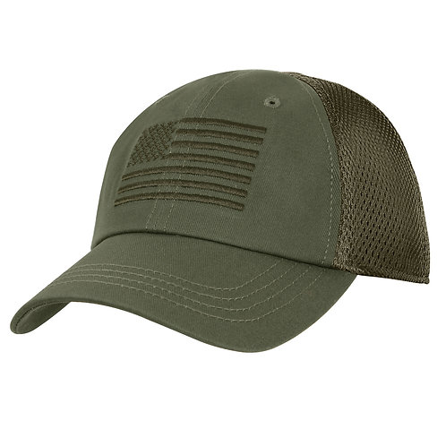 LM7829 Tactical Mesh Back Cap With Embroidered US Flag