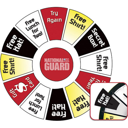 LM9901 Spin 'N Win Prize Wheel Replacement Graphic Inserts Kit