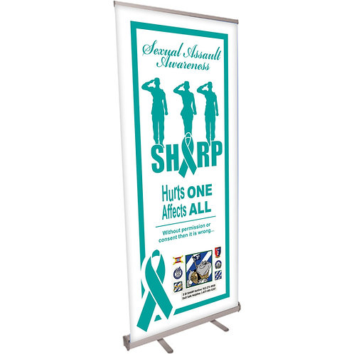 Sexual Assault Awareness Hurts one Hurts All Retractable Banner