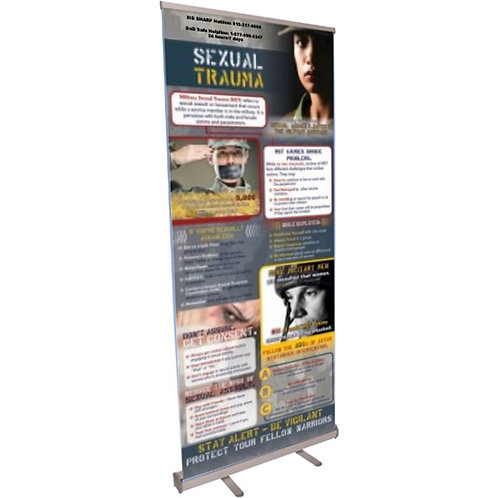 Sexual Trauma Military Retractable Banner