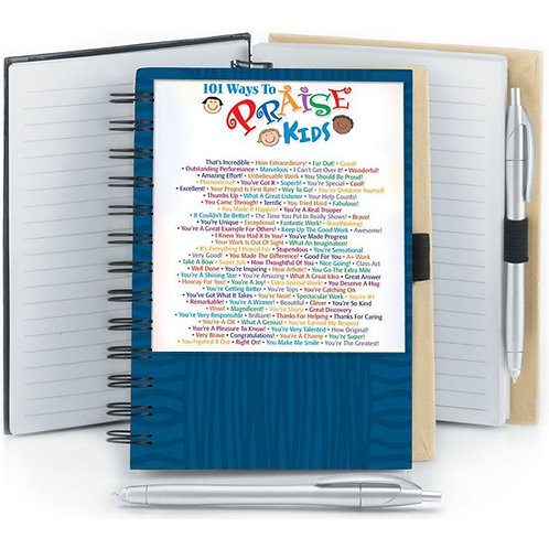 LM5498 101 Ways To Praise Kids Full-Color Notepad And Stylus Pen