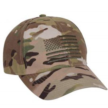 LM981 MultiCam Low Profile Cap With US Flag
