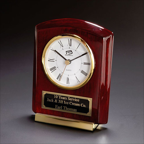 LM4863 Cornell Desk Clock with Brass Accents