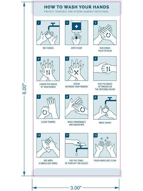 LM11016 Hand Washing Sticker