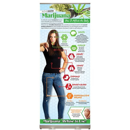 LM0185     Marijuana: How it Affects the Body Presentation Display