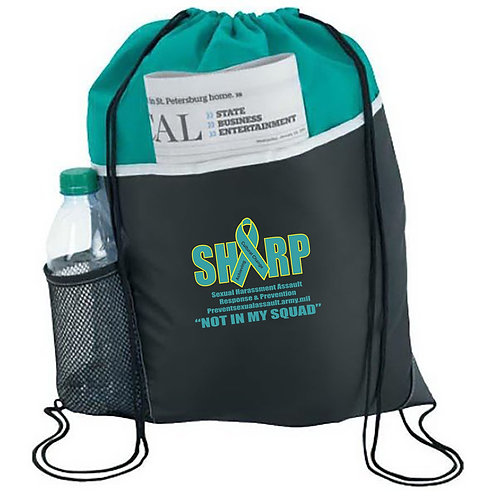 LM8163 Drawstring Bag with Water Bottle Pocket